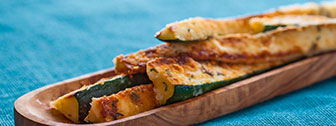 Grilled zucchini for dialysis diet