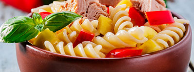 Pasta salad mix in bowl