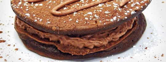 Chocolate Pancakes With Moon Pie Stuffing