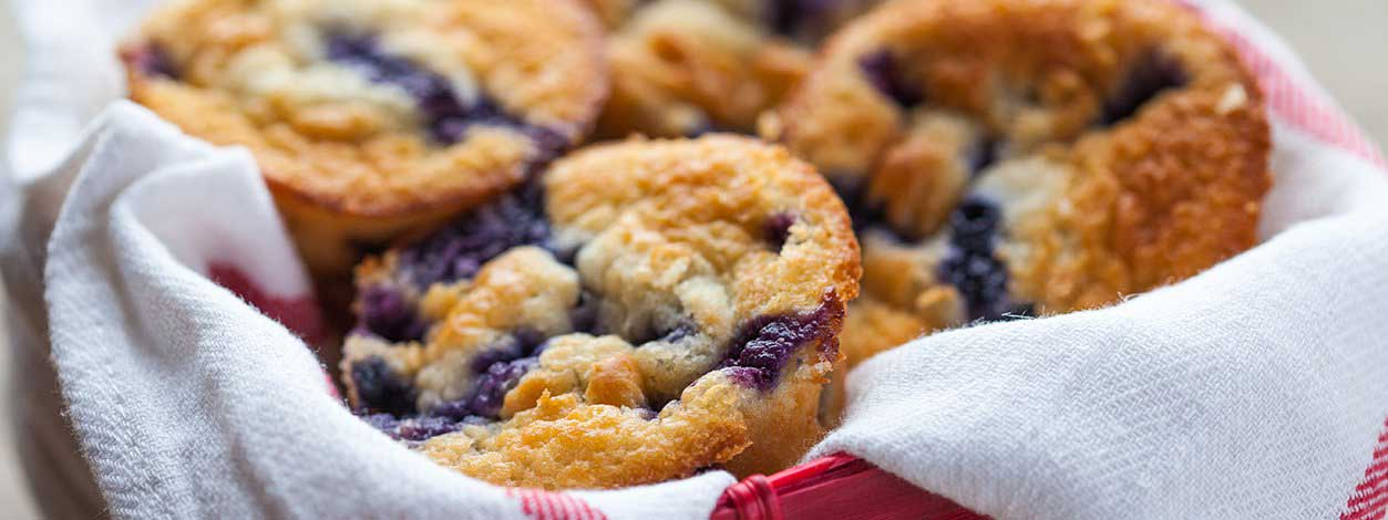 breakfast blueberry muffins enlarged