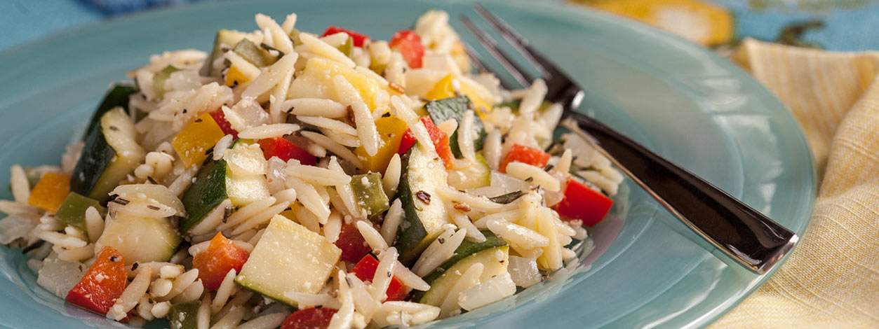 Lemon orzo spring salad