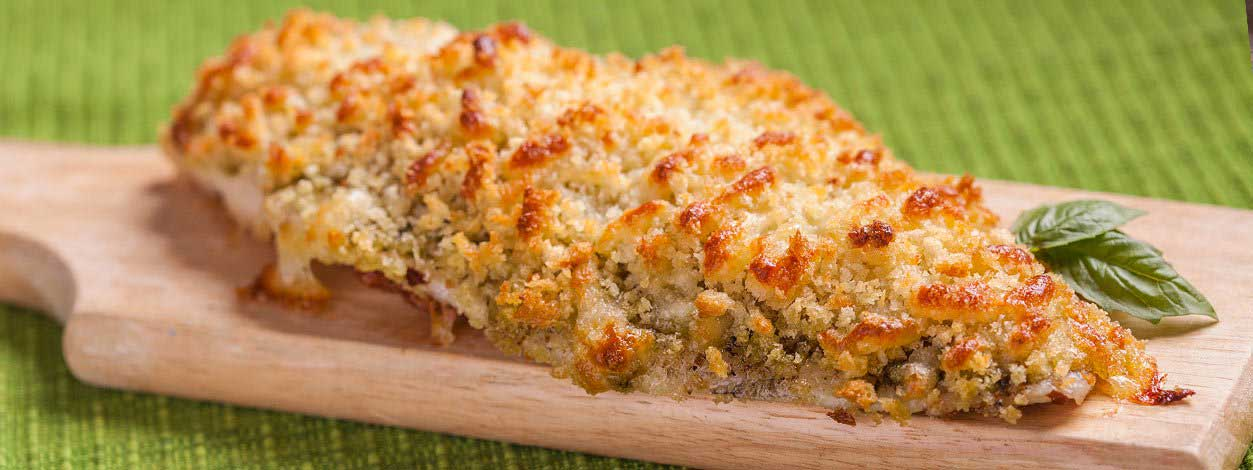 Pesto crusted catfish wide enlarged