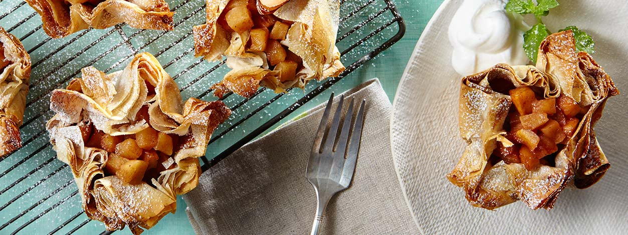 apple phyllo pastries recipe