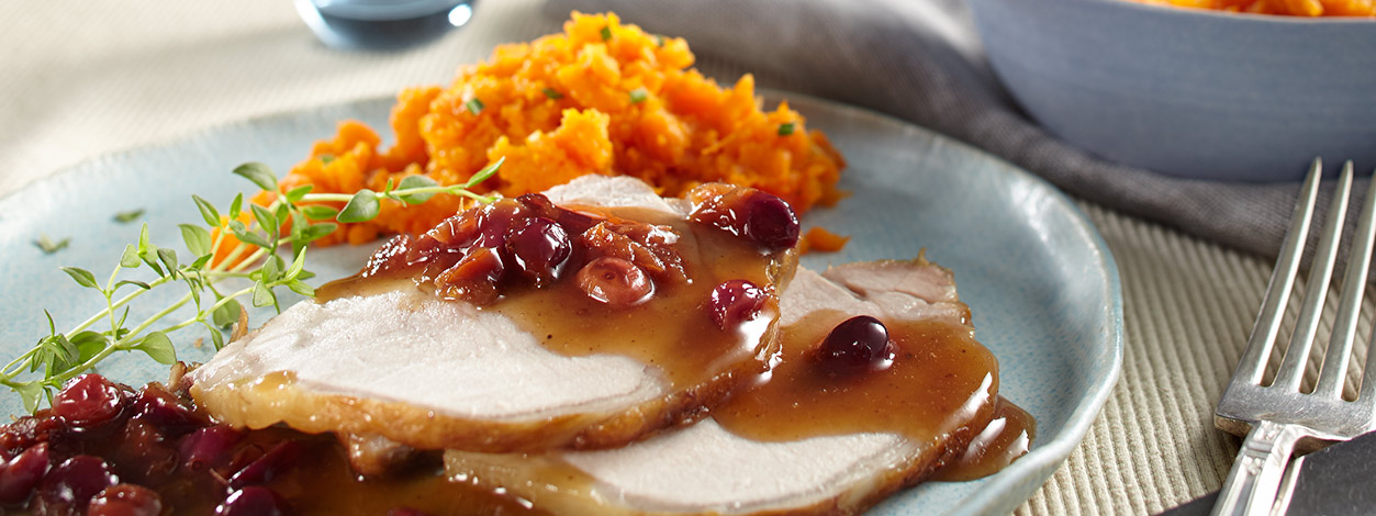 slow-cooked pork roast recipe with cranberries and brown sugar